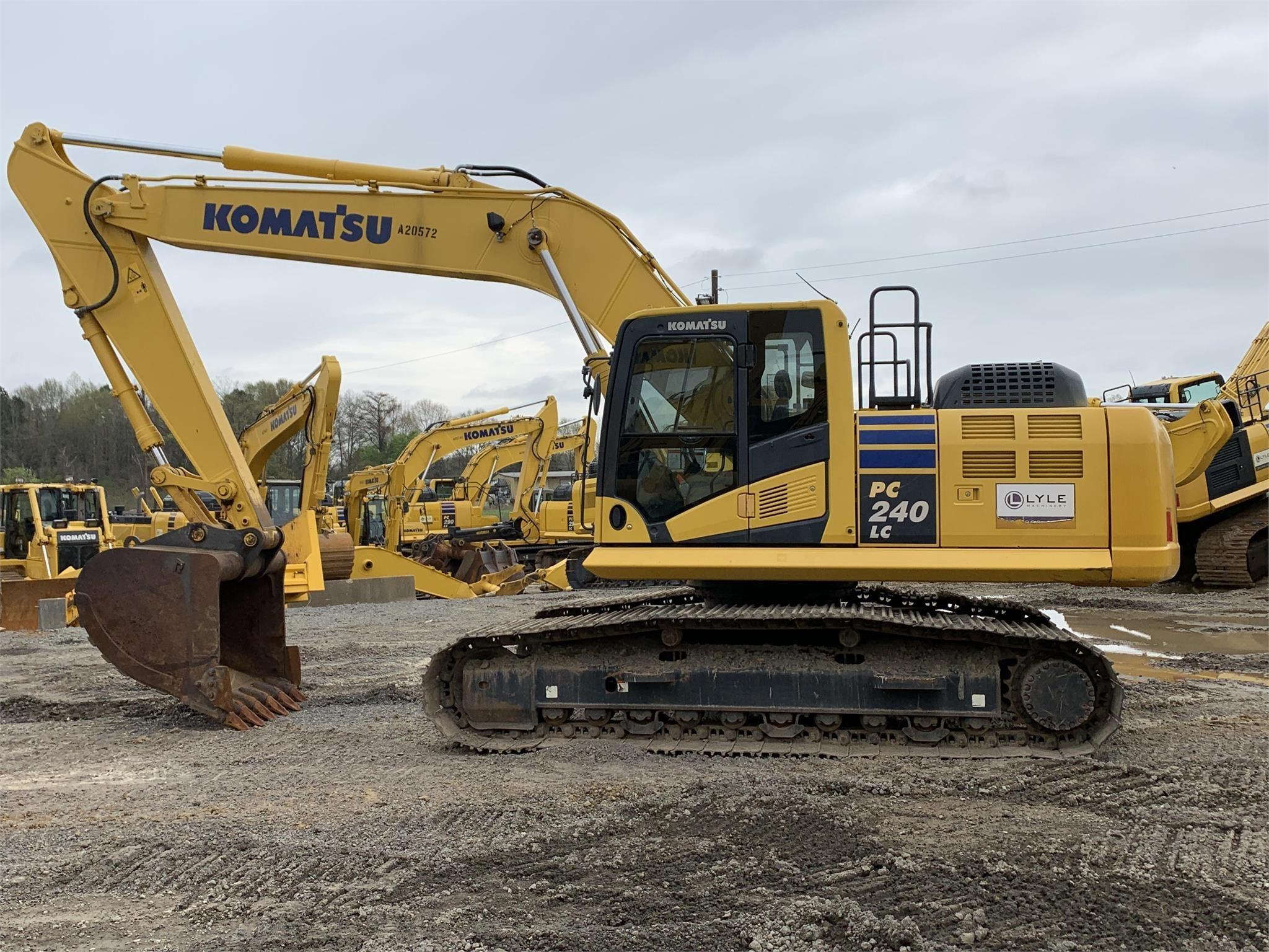 Used, 2017, KOMATSU, PC240 LC-10, Excavators - Crawler