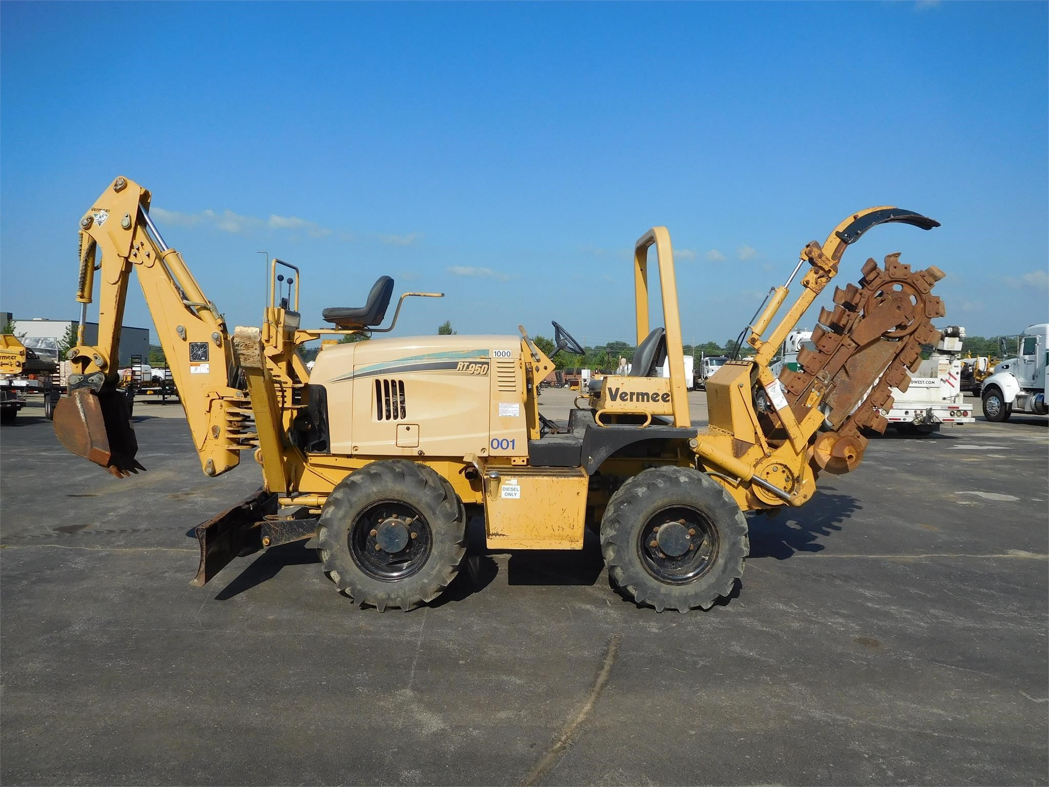 Used, 2006, VERMEER, RT950, Trenchers